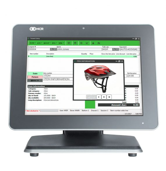 xr7 counterpoint pos retail sporting goods machine