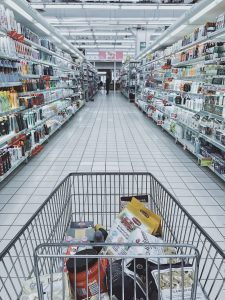 Dollar Store Items with Grocery Cart Perspective CP Retail POS